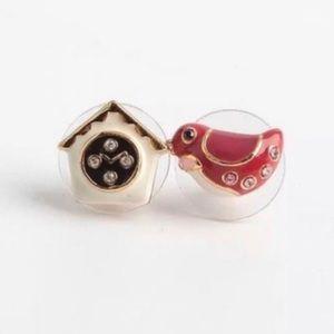 🆕 Kate Spade Ooh La La Cuckoo Clock Bird Earrings